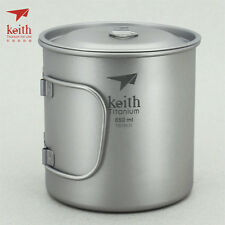 Keith Titanium Ti3208 Single-Wall Mug - 22 fl oz (Shipped from California, US)