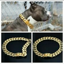 GOLD Cuban Link Big Dog Chain: 21 inches / 2.2 lbs - Dog Shops of America