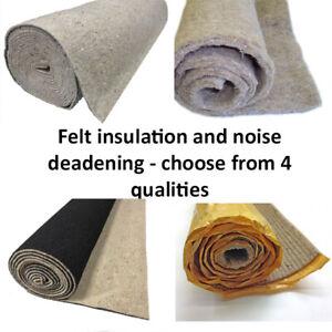 Car underfelt soundproofing acoustic felt sound deadening underlay insulation