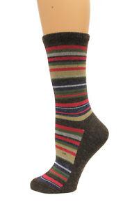 Wise Blend Large Stripe Crew Socks, 1 Pair, Medium, Shoe Size W 6-9 (9340)