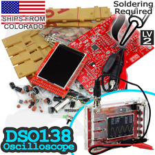 "DSO138 2.4"" TFT Digital Oscilloscope Kit With Sturdy Case for DIY Arduino Pi TTL"