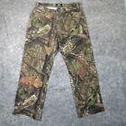 Mossy Oak Mens Jeans 34x30 Straight Leg Camo Pattern Denim Pants Stretch EUC