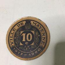 Ville De Mayenne 10 Centimes , Billet Rond Assez Rare