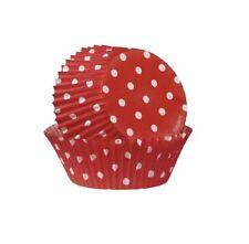 Wilton 75 Pirottini a Pois Rosso Pirottino per Cupcake Muffin Cup Cake Cakemania