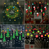 Merry Christmas Wall Sticker Window Door Vinyl Decal Xmas Party Decor Ornaments