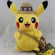"Pokemon Character Pikachu in hat bag 8"" Stuffed Animal Cartoon Plush soft Toy"