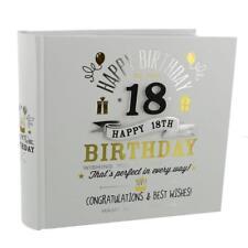 Signography en Caja Blanco Negro y dorado álbum de fotos - 18th Cumpleaños