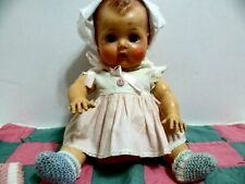 "Vtd American Character Tiny Tears Doll 1950S 13"" A Rock A Bye eyes drink & wet"