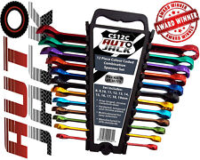 Professional 12Pc Metric Combination Multi Coloured Spanner Set & Storage Rack