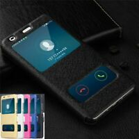 For Samsung Galaxy A10 A20 A30 A40 A50 A70 Window View Flip Leather Case Cover