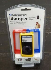Monster Cable iBumper iPod Nano 3 Colors Cases 3 Clear Skins Sling New Sealed