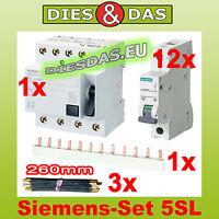 Fi Schutz Schalter Set  Siemens  40-0,03A Sicherungsautomat B 16 A Fi Schalter