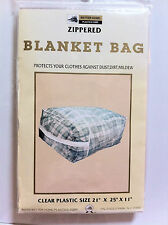 blanket bag zippered , one piece, for storage, protects from dust, dirt, mildew.