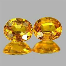 1.17 CTW ~ ONE PAIR (2 pcs) Yellow Sapphire ~ Oval ~ Natural Gemstone