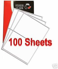 2 per A4 Sheet x 500 Quality ADDRESS LABELS FREE P & P