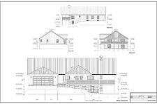 Full Set of single story 3 bedroom house plans 2,244 sq ft