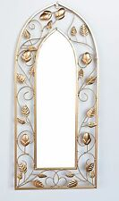 Vintage Arch Design Garden Wall Mirror Indoor Outdoor Garden Wall Art Copper New