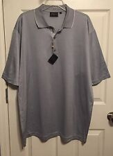 NWT BOBBY JONES Collection Polo Shirt, XL, 100% Italian Cotton, Gray, NEW