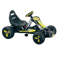 Kids Black Quad Pedal Go Kart 4 Wheel Powered Outdoor Sports Racing Toys Hobbies