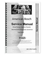 American Bosch Pumps Injection Nozzles Governors Fuel Filters Service Manual