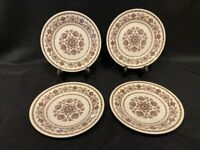 Royal Wellesley - Brown Floral Dessert Plates – Set of 4