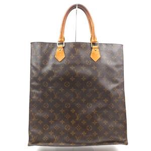 LOUIS VUITTON Sac Plat Handbag Monogram Brown M51140
