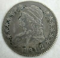 1812/1 Capped Bust Half Dollar - Small 8 - Extremely Fine XF Old Cleaning