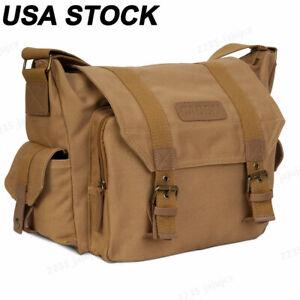 CADeN F1 Canvas Sling Camera Bag Shoulder Backpack For Canon Nikon Sony DSLR SLR