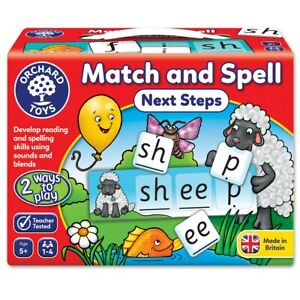 Orchard Toys Match & Spell Next Steps Game, Literacy, Spelling, 5+ Years