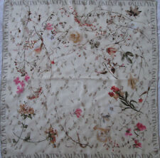 -Superbe foulard VALENTINO soie   TBEG vintage scarf 89 x 91 cm