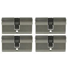 1-4x Profile Cylinder 2 3/8in 30/30 Door Cylinder Lock+Key Keyed Alike