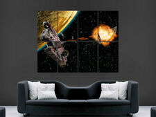 STAR WARS POSTER MILLENNIUM FALCON WALL SPACE PLANET ART PICTURE PRINT LARGE