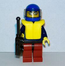 Lego - City - Town Sea Boat Rescue Beach Lifeguard Coast Guard Man - Minifigure