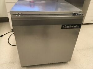 Continental  Model #UCF27 stainless steel under counter freezer on wheels