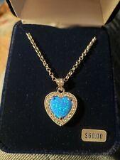 Montana Silversmith Jewelry Necklace Halo Heart Opal
