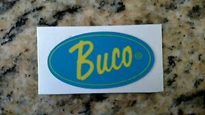 SMALL VINTAGE BUCO HELMETS VINTAGE DECAL STICKER HIGH GLOSS