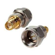 F Male Plug To SMA Female Jack Coaxial Adapter Connector Alloy Steel