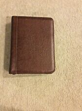 Franklin Covey Brown Top Grain Cowhide Leather Classic Size