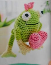 CROCHET PATTERN Frog Valentines Toy Doll Love Heart 9cm Tall PATTERN