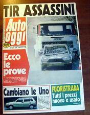 AUTO OGGI 69/1988 ARTICOLO E POSTER FIAT DINO SPIDER 7° CAMEL TROPHY LE MOTO '88