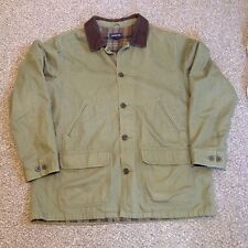 Lands End Barn Coat Chore Ranch Farm Field Western Jacket Lined Canvas Mens XL