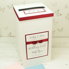 Personalised Crystal Dior Bow Wedding Card Post Box - ANY COLOUR