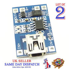 2x 18650 5V Mini USB Caricabatteria al Litio Board Modulo 1A