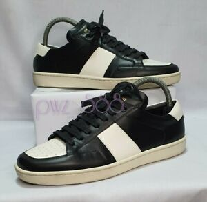 SAINT LAURENT Black and White SL/10 Sneakers Size 40