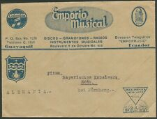 More details for ecuador 1940s? music cover to germany see both scans bin price gb£15.00