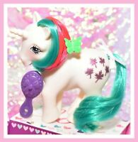 ❤️My Little Pony MLP G1 Vintage 1984 Gusty Unicorn Glitter Maple Leaves❤️