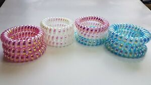 Large Thick Multicolour Spiral Hair Bands Hairband Stretchy Bobbles 3pk x 5cm
