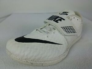 Nike Zoom High Jump Elite Track Shoes Size 9 Men's White Black 806561-001