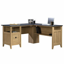 Sauder 412320 August Hill L-Desk, Dover Oak®