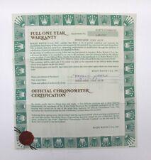 Original Rolex Certificate 16713 (GMT- Master)
